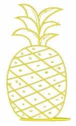 Pineapple Outline Embroidery Designs Machine Embroidery Designs at EmbroideryDesigns com