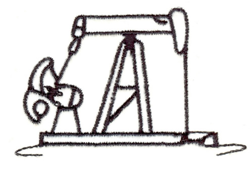 Pump Jack Outline Embroidery Designs, Machine Embroidery