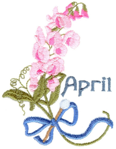 sweet pea embroidery # 56