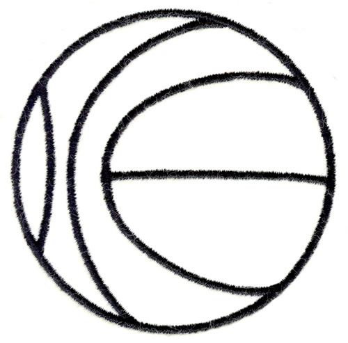 Basketball Outline Embroidery Designs, Machine Embroidery