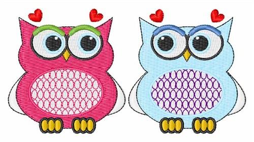 valentine owls embroidery designs