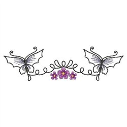 Twin Butterflies Embroidery Designs, Machine Embroidery