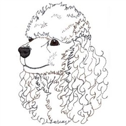 Poodle Head Embroidery Designs, Machine Embroidery Designs at EmbroideryDesigns.com