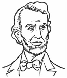Abraham Lincoln Embroidery Designs, Machine Embroidery
