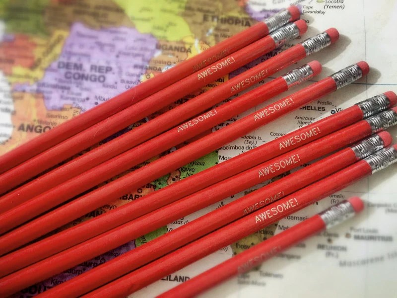 Awesome Red Pencil 6 Pack Great Gift for Teachers - Earmark