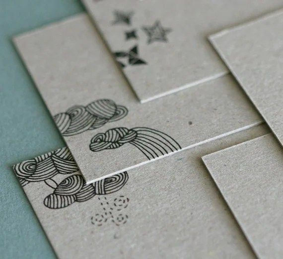 Mini Notecards - Weather Pattern