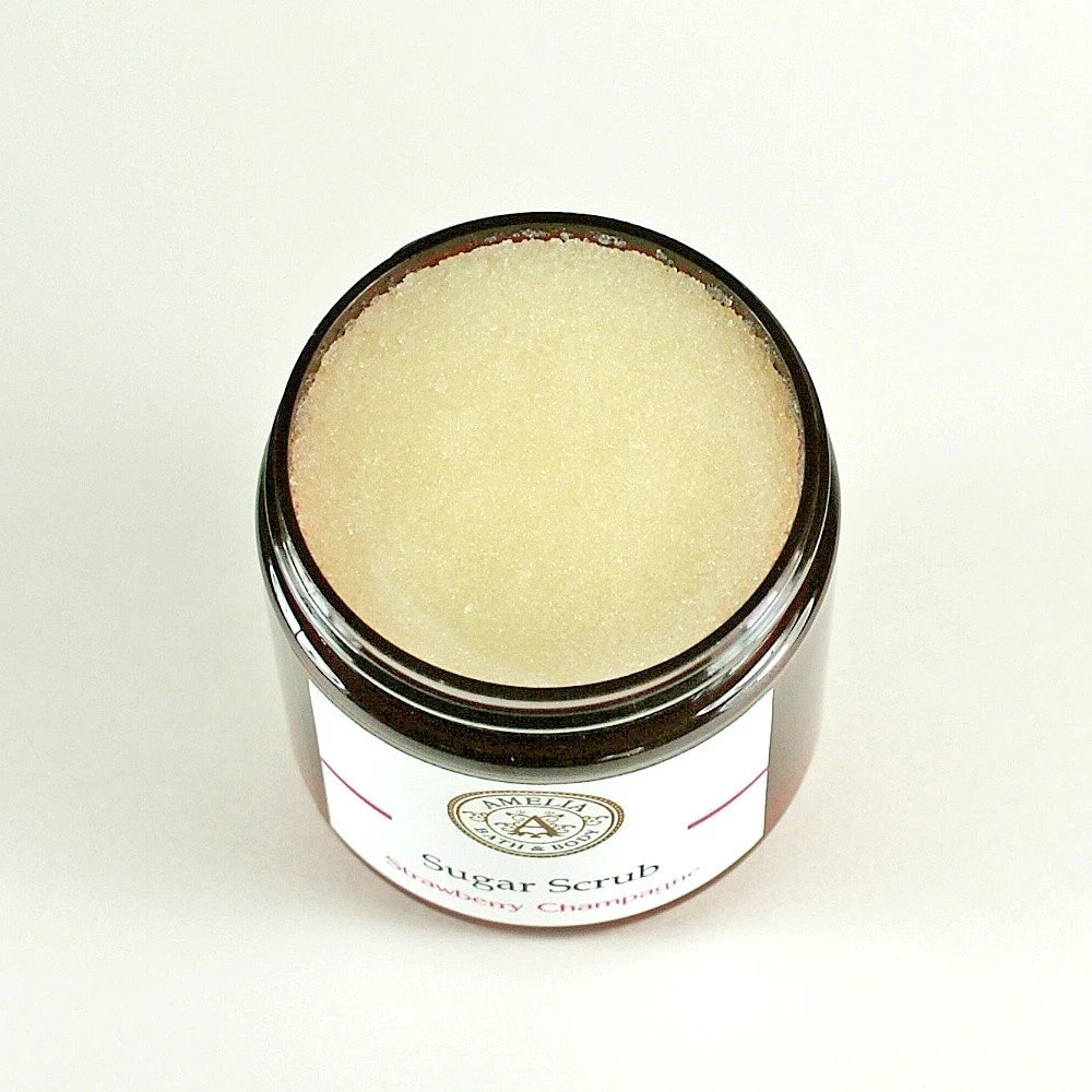 Strawberry and Champagne Sugar Scrub Sophisticated Fragrance  - Phthalate Free Paraben Free