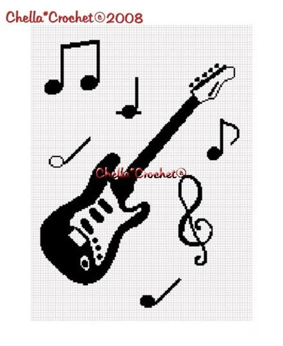 INSTANT DOWNLOAD Chella Crochet Guitar and by chellacrochet