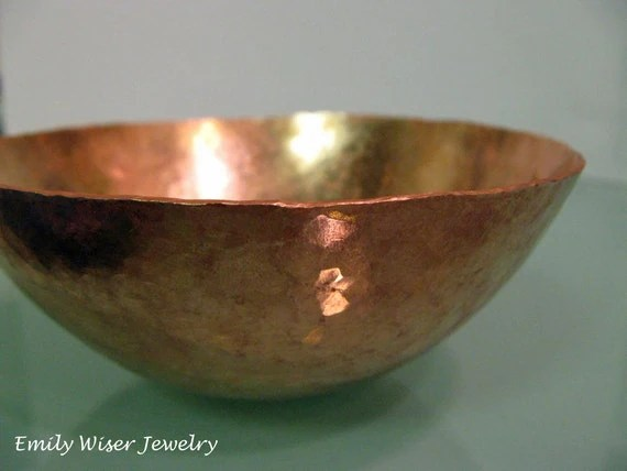 Hammered Copper Bowl - EmilyWiserJewelry