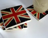 Union Jack Diamond Jubilee coasters (set of 4) - thepaintedlily