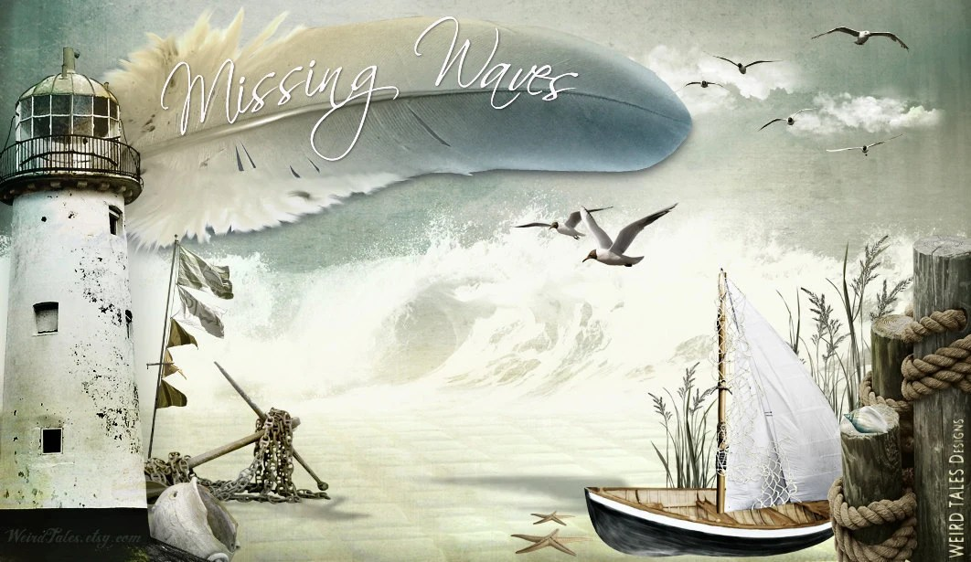 Missing Waves // Pre-Designed Etsy Storefront Graphic Set - WeirdTales