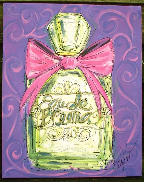 Beautiful Perfume Bottle Personalized Painting