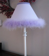Ceramic Table Lamps: Lavender Gingham Lamp Shade Lavender ...