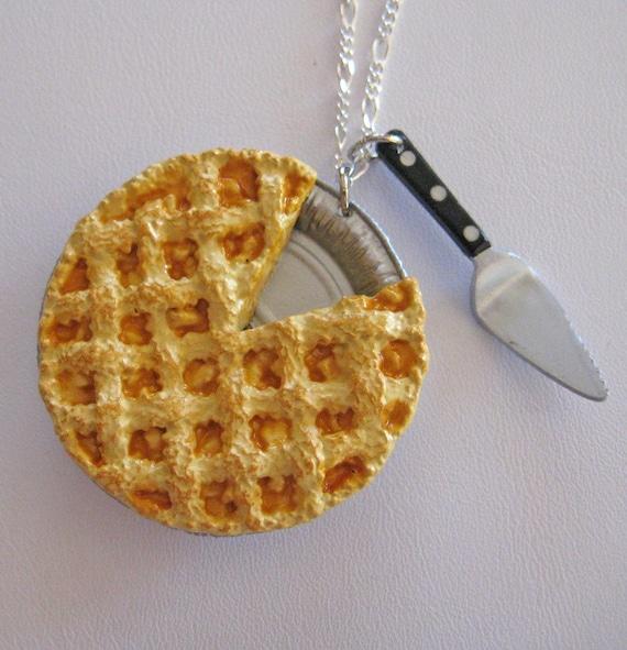 All American Apple Pie Charm Necklace - Mini Food Jewelry - Artwonders
