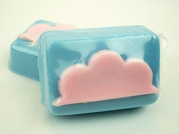 Cotton Candy Clouds - Goat's Milk Soap Bar - soapopotamus