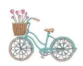 Tulip Bike - Easter or Spring Card - rachelink