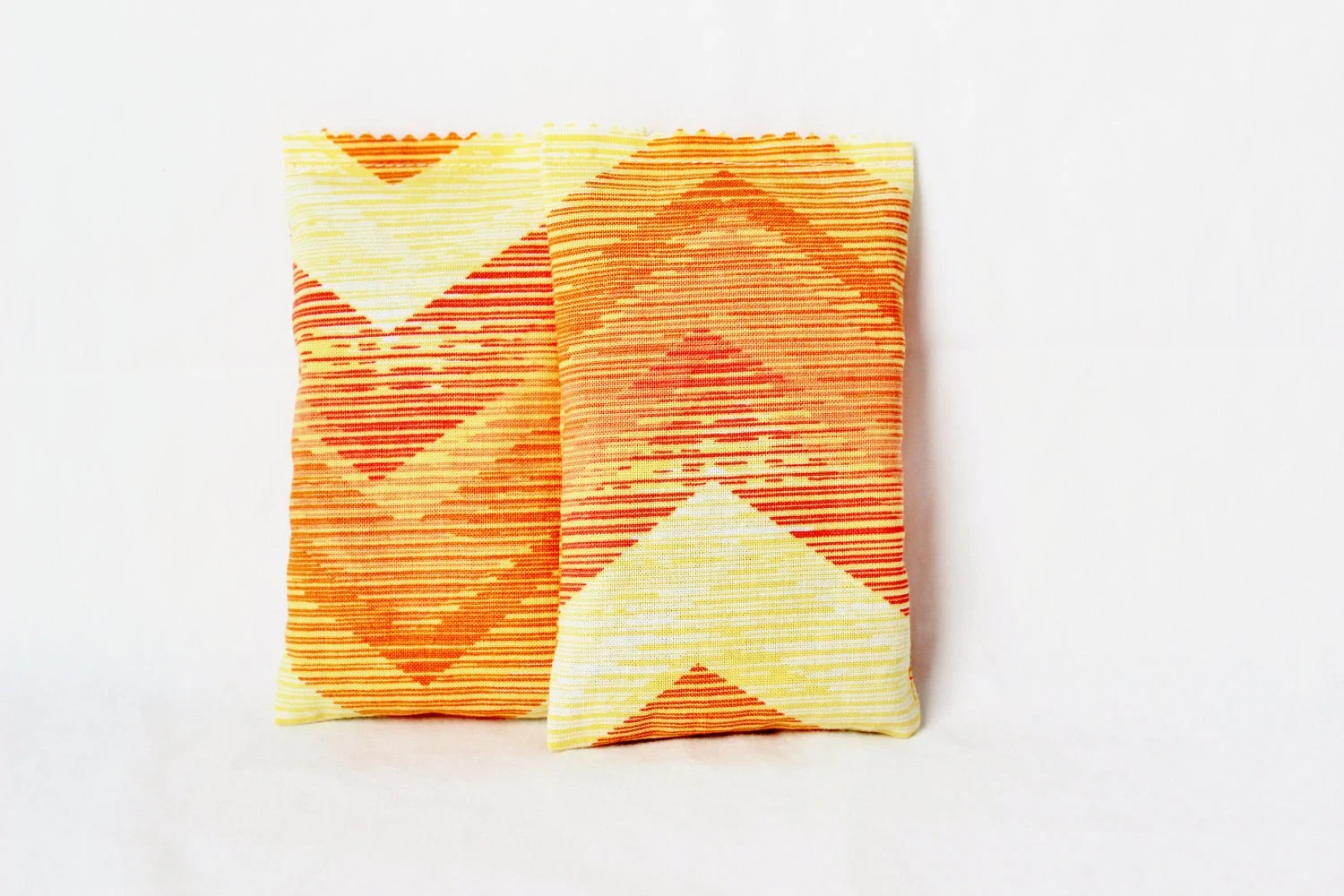 Orange Chevron Lavender Sachets Modern Decor Natural Aromatherapy Set of 2 - gardenmis
