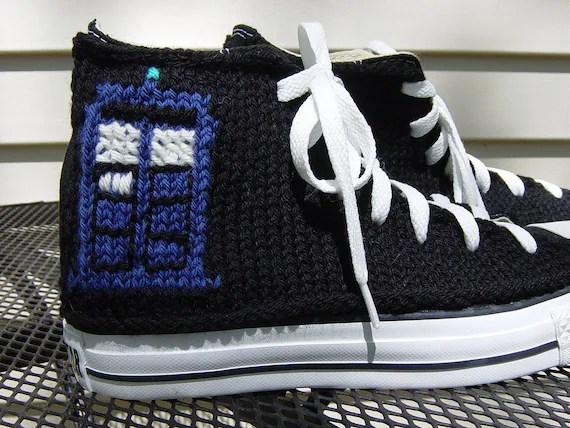 Dr. Who TARDIS Knit Chucks