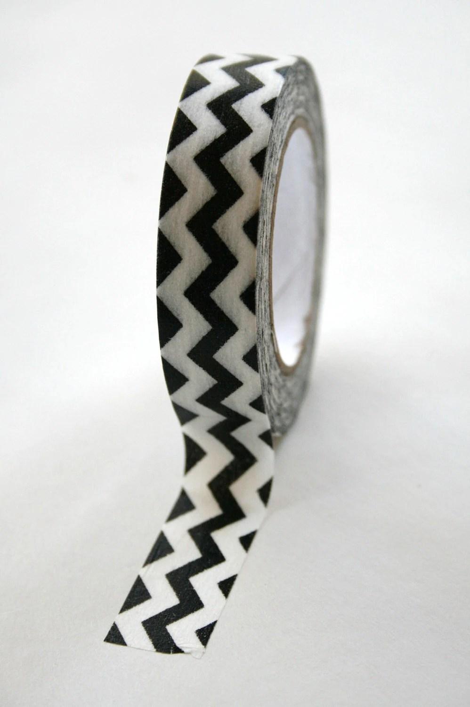 Washi Tape Black White Chevron - 15mm - Deco Tape - InTheClear