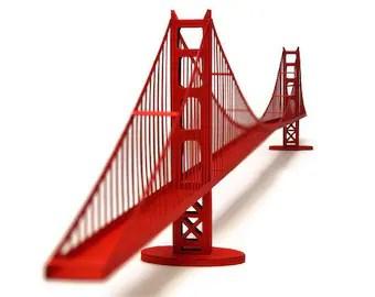 Golden Gate Bridge Paper Model (KIT)