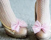 Pretty Sparkle Pink Bow Shoe Clips - PixelandHank