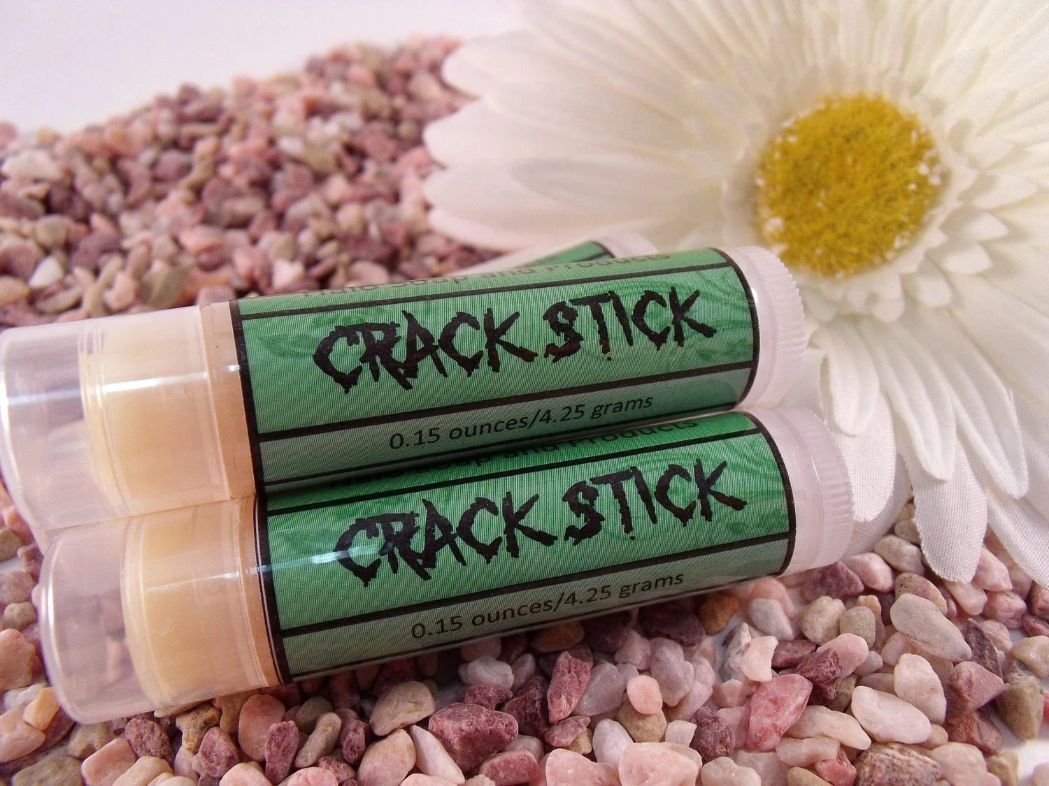 One Crack Stick Mentholated Lip Balm - Vegan - 100% Natural - HaloSoap