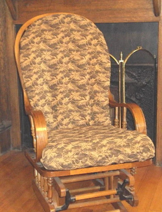 rocking chair cushion covers portable stool replacement for glider rocker cushions