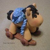 Wooden Rocking Horse from Trina's Clay Creations on Etsy