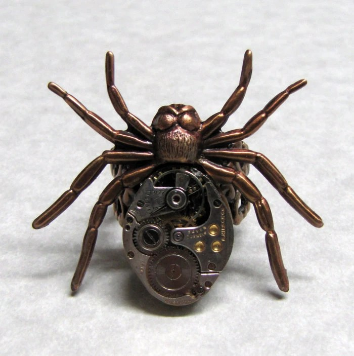 Spider Gear Steampunk Ring