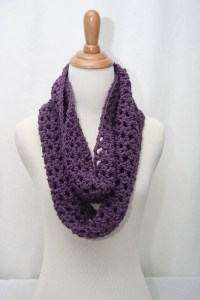 Crochet Cowl Neck Scarf Aqua Purple And Black By Shiara On ...