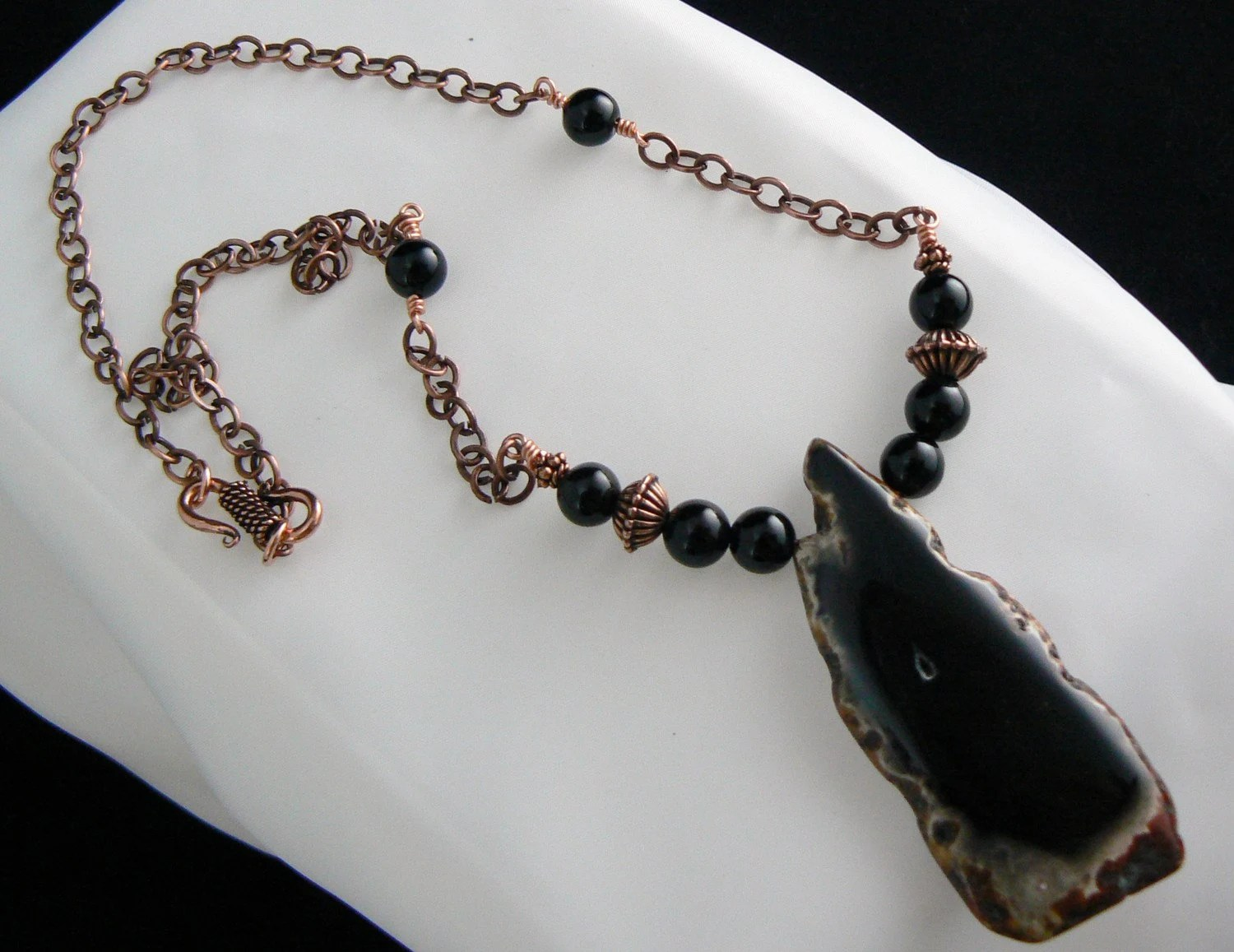 Black Gemstone Necklace - Gemstonesonmymind