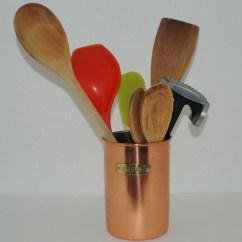 Copper Kitchen Utensil Holder Storage Baskets Tin Or Gifts