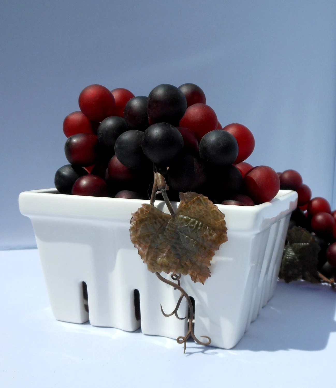 Ceramic Berry Basket, Strawberry Basket, Farmers Market Go Green and carry your own basket - CreativityHappens