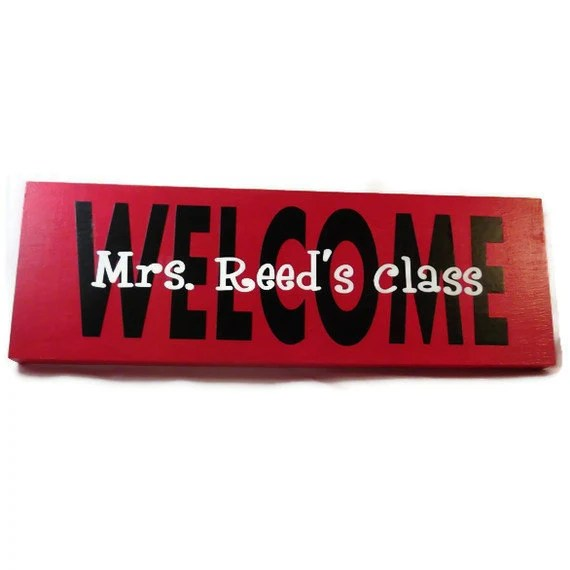 Handmade Teacher Gift Custom Classroom Sign - HookUUpCustomCrafts