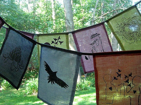 Personalized Prayer Flags Made custom for you      xo - Cazmira