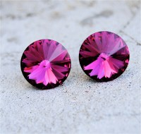 Fuschia Pink Earrings