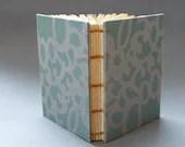 Sage Filigree Mini Notebook - Block Printed - ImperialePrints