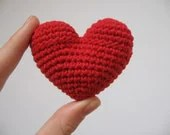 crochet heart red valentine's day love gift - lamagique