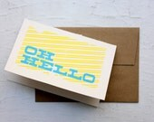 Oh Hello, Silkscreen Card with envelope - est1986