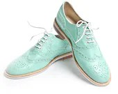 mint oxford brogue shoes - FREE WORLDWIDE SHIPPING - goodbyefolk