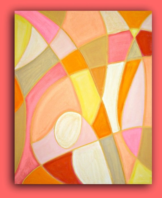"Abstract Acrylic Painting on Gallery Canvas Fine Art Titled: SALT WATER TAFFY 24x30x1.5"" by Ora Birenbaum - orabirenbaum"