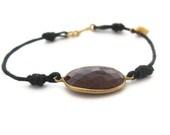 Ruby Bracelet, Cord Bracelet,  Red Gemstone Bracelet - sheriberyl