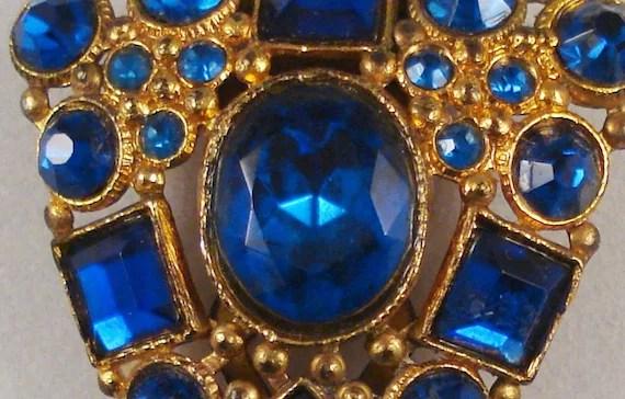 Royal Blue Rhinestone Dress Clip - oniemaes