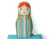 Matryoshka Babushka Russian Baby Cloth Doll - Baby Safe - Child Friendly - tadpolecreations