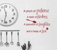 Kitchen Quotes Wall Decals | Interior Decorating