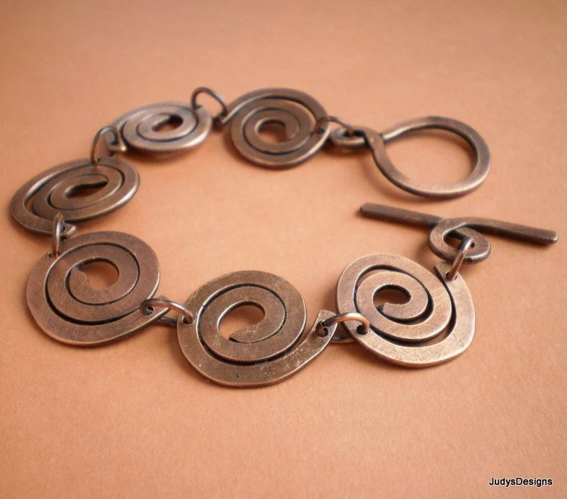 Statement copper spirals bracelet: Judy's Designs
