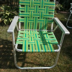 Webbing For Aluminum Folding Chairs Peg Perego High Chair Vintage Lawn