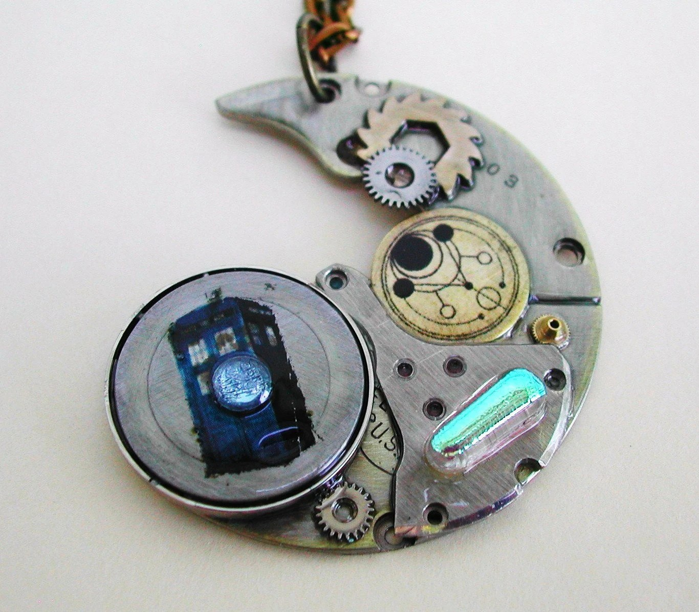 """The Silver Devastation"" Doctor Who Steampunk Necklace"