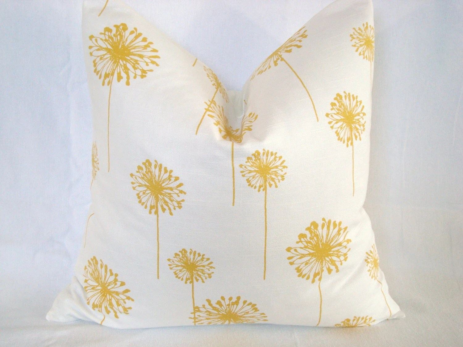 20X20 Premier Yellow and White Dandelion Print - CreativeTouchDecor