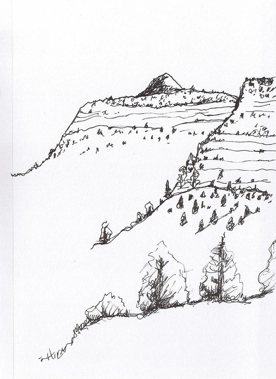 Plain Landform Coloring Page Sketch Coloring Page